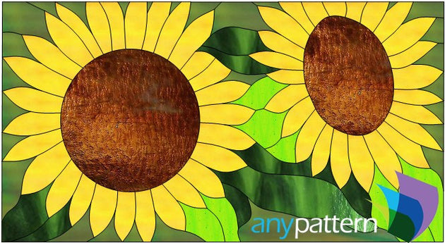 Sunflowers Stained Glass Pattern
