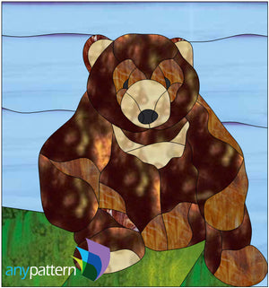Teddy Bear Stained Glass Pattern