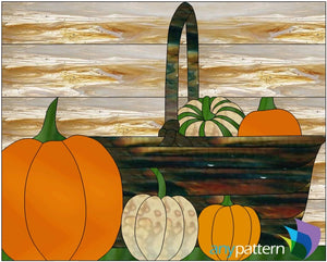 Thanksgiving Bounty Stained Glass Pattern