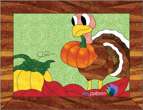 Thanksgiving Turkey Applique Quilt Pattern