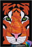 Tiger Face Stained Glass Pattern