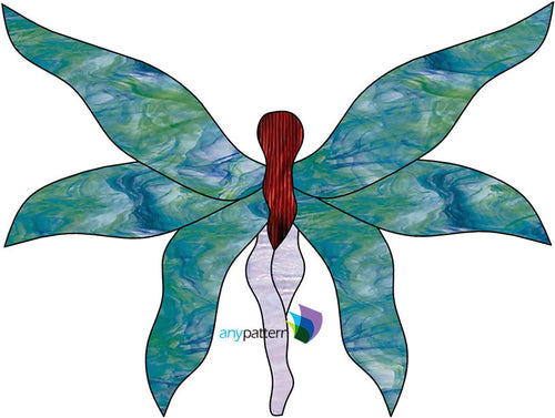 Tiptoe Fairy Stained Glass Pattern
