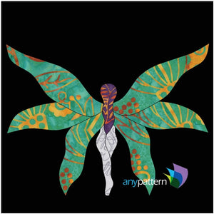 Tiptoe Fairy Quilt Applique Pattern