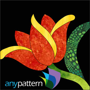 Tulip Block Applique Pattern