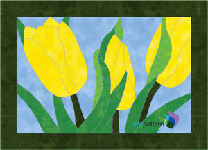 Tulips in Spring Applique Quilt Pattern