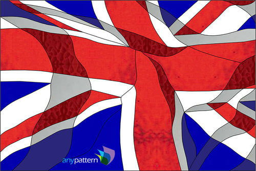 UK Flag Stained Glass Pattern