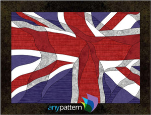UK or Union Jack Flag Applique Quilt Pattern