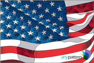 US Flag Stained Glass Pattern
