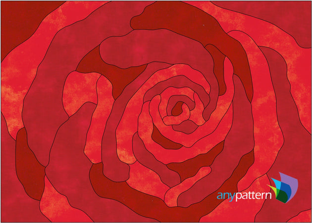 Up-close with a Rose Applique Quilt Pattern