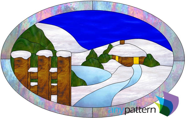 Winter Wonderland Stained Glass Pattern