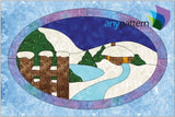 Winter Wonderland in Ice Applique Quilt Pattern