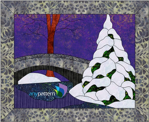 Winter in the Park Applique Quilt Pattern
