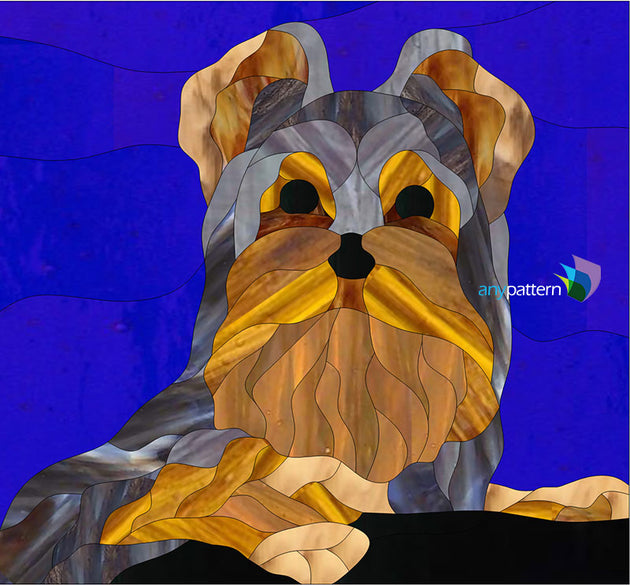 Yorkie Stained Glass Pattern