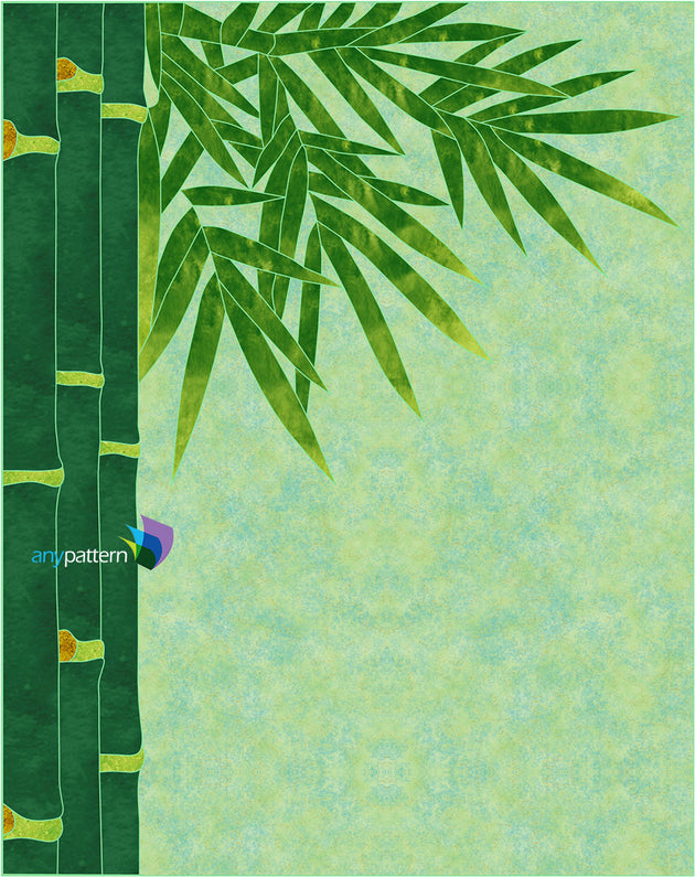Bamboo Applique Quilt Pattern