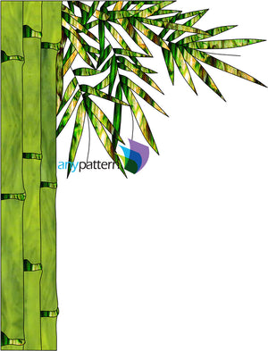 Bamboo Free Form Stained Glass Pattern