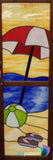 Cabinet door stained glass finished