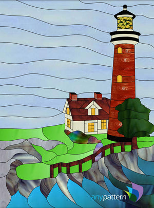 Brick Lighthouse Stained Glass Pattern