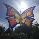 Butterfly stained glass example orange