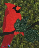 Cardinal with Holly Applique Quilt Example by Joyce