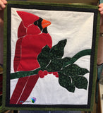 Cardinal with Holly Applique Quilt Example by