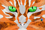 Orange Cat Eyes Stained Glass Pattern
