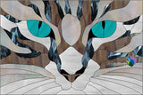 Cat Eyes Stained Glass Pattern