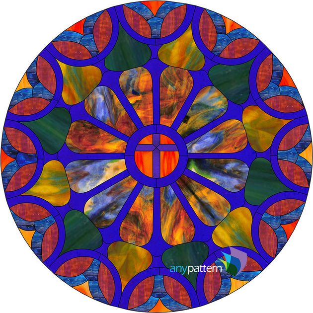 Church Round Stained Glass Pattern