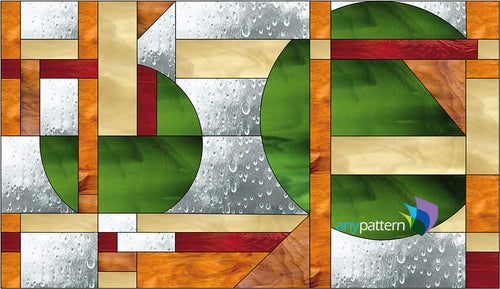 Craftsman Style Abstract Stained Glass Pattern