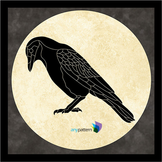 Crow Moon Applique Quilt Pattern