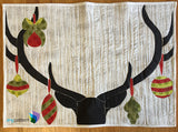Deer Christmas Finished Applique Quilt by Sonya