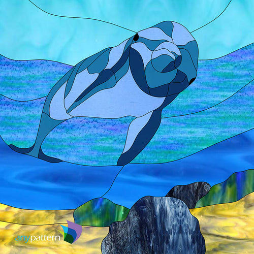 Dolphin Stained Glass Pattern