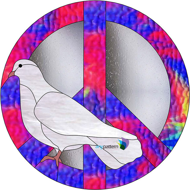 Dove Peace Stained Glass Pattern