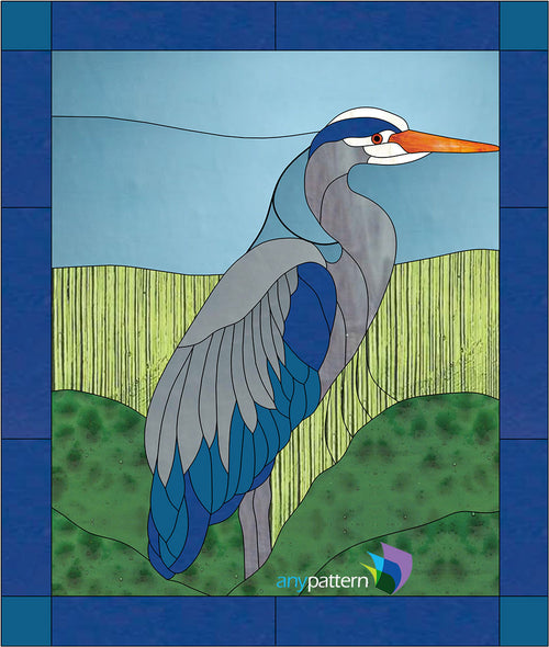 Heron Stained Glass Pattern