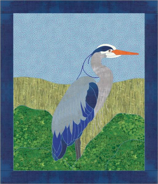 Heron Applique Quilt Pattern border