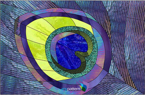 Peacock Feather Stained Glass Pattern