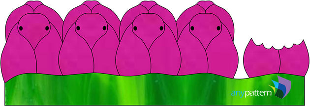 Peeps Stained Glass Pattern Pink