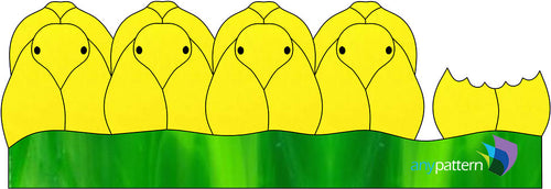 Peeps Stained Glass Pattern Yellow