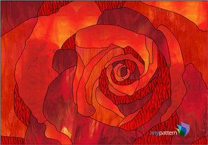 Rose Detail Stained Glass Pattern