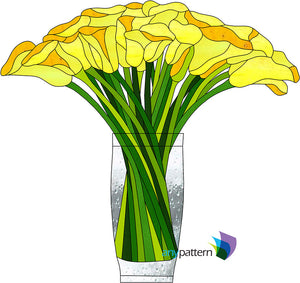 Yellow Bouquet Stained Glass Pattern