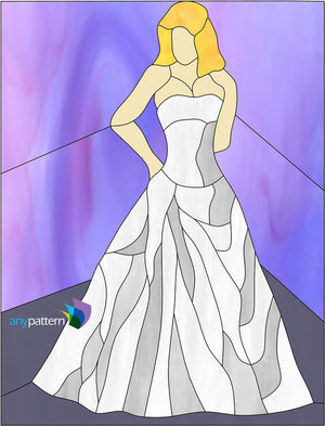 Yes Wedding Dress Stained Glass Pattern
