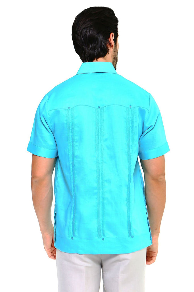 Mojito Collection Big Size Men's Traditional Guayabera Shirt Premium 100% Linen Short Sleeve 3X-8X