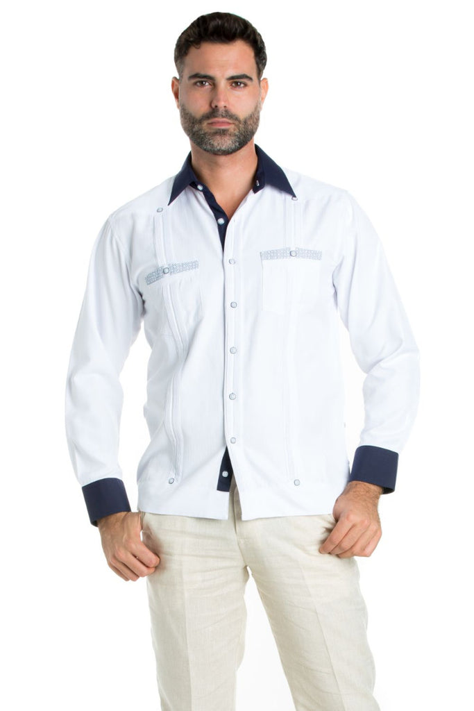 Men's Premium Cotton Blend Guayabera Shirt