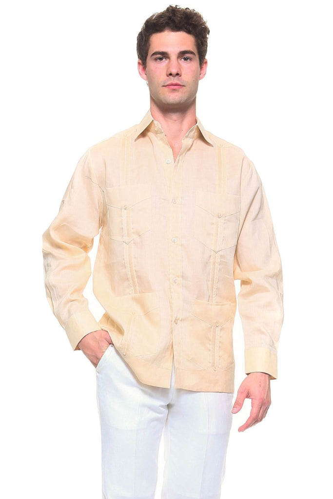 Mojito Signature Collection 100% Linen Classic Guayabera Shirt
