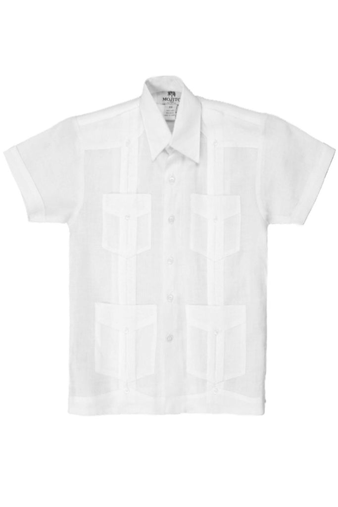 Boy's Cotton Blend Guayabera Shirt Short Sleeve
