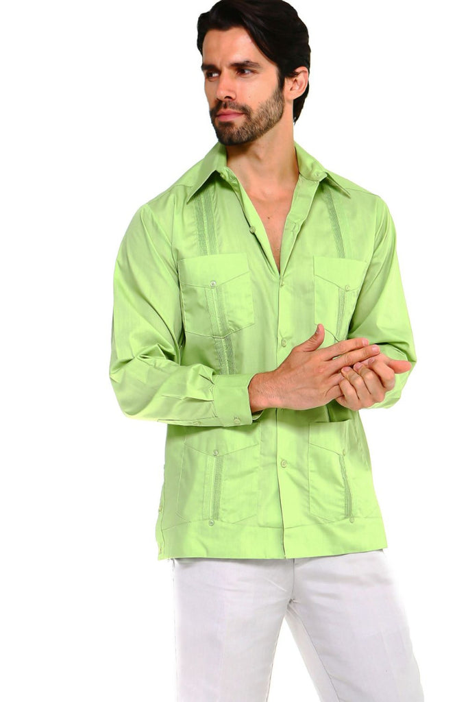 Mojito Guayabera Shirt Classic Long Sleeve Lime