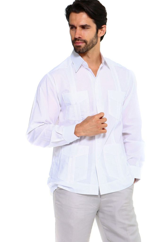Mojito Guayabera Shirt Classic Long Sleeve White