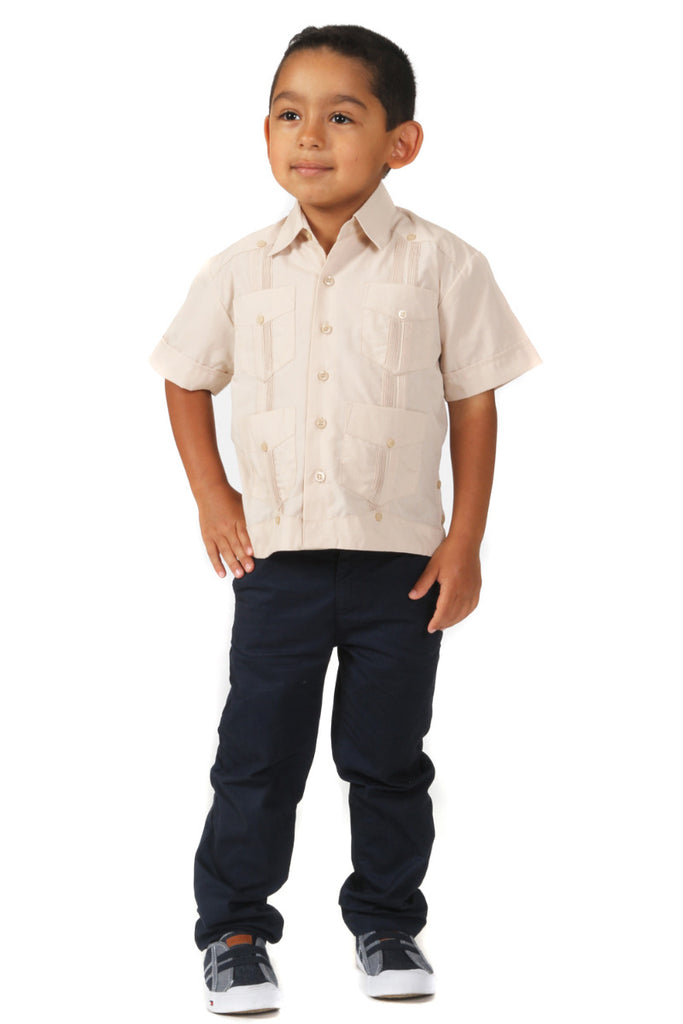 Mojito Boys Guayabera Shirt Short Sleeve
