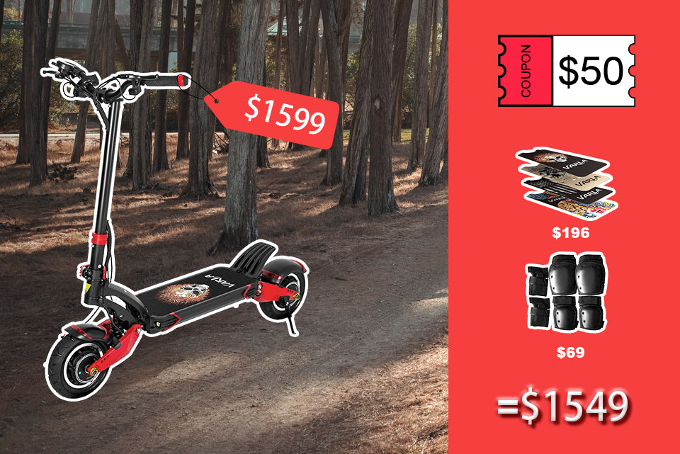 Best off road electric scooter Varla Eagle One