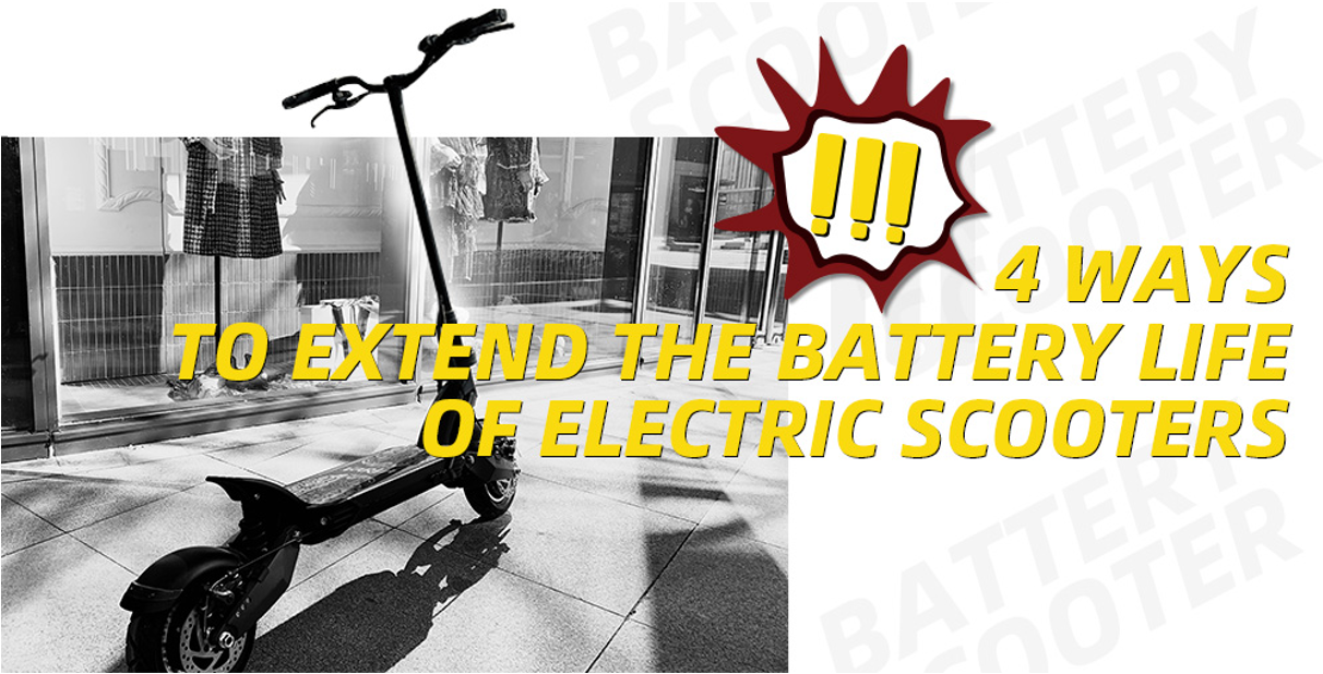 Ways to Extend the Battery Life of Your Electric Scooter