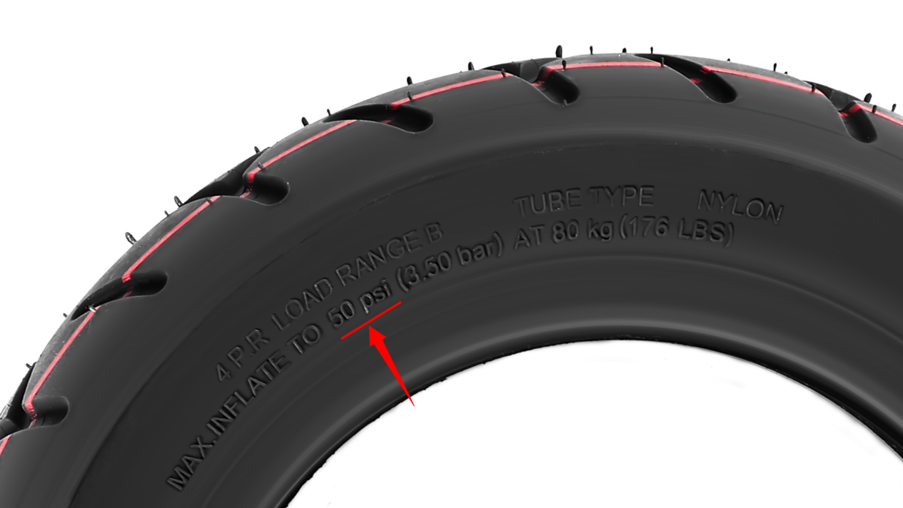 The air pressure of tire